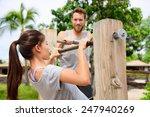 Fitness Couple Training On Chi...
