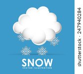 snow icon design  vector... | Shutterstock .eps vector #247940284