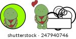 sweet girl turtle cartoon... | Shutterstock .eps vector #247940746