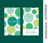 vector abstract green circles... | Shutterstock .eps vector #247949929
