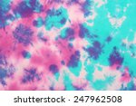 Tie Dyed Pattern On Cotton...