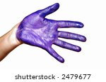 a womanish palm is painted... | Shutterstock . vector #2479677