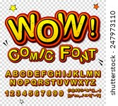 wow. creative high detail font... | Shutterstock .eps vector #247973110
