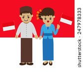 indonesia man and woman in... | Shutterstock .eps vector #247978333