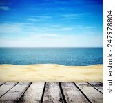 sandy beach on summer day and... | Shutterstock . vector #247978804