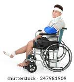 full length portrait of injured ... | Shutterstock . vector #247981909