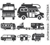 rv car icons  recreational... | Shutterstock .eps vector #247986064