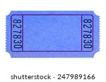 blank ticket   blank blue movie ... | Shutterstock . vector #247989166