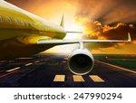 Постер, плакат: passenger plane take off