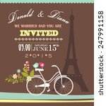 wedding invitation card | Shutterstock .eps vector #247991158