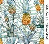 Pineapple  Pattern  Background  ...