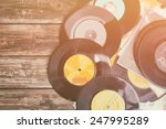 top view of stack of records... | Shutterstock . vector #247995289