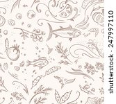 italian food pattern   hand...   Shutterstock .eps vector #247997110