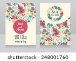 beautiful floral wedding... | Shutterstock .eps vector #248001760