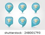sheep mapping pins icons with... | Shutterstock .eps vector #248001793
