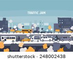 car traffic jam   freehand...