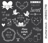 romantic and love vintage... | Shutterstock .eps vector #248002798