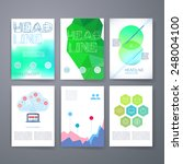 templates. set of web  mail ... | Shutterstock .eps vector #248004100