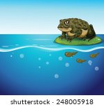 Illustration Of A Frog And...