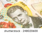 Small photo of Romanian Lei Banknotes Close Up