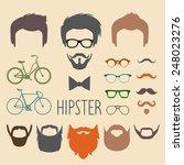 big vector set of dress up... | Shutterstock .eps vector #248023276