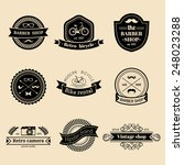 vector set of vintage hipster... | Shutterstock .eps vector #248023288