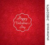 vector valentine's day doodles. ...   Shutterstock .eps vector #248024974