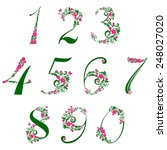 floral numbers set isolated on... | Shutterstock . vector #248027020