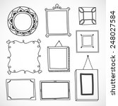 cute hand drawn frames in vector | Shutterstock .eps vector #248027584