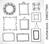 cute hand drawn frames in vector | Shutterstock .eps vector #248027584