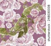 roses seamless pattern | Shutterstock . vector #248030338