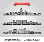 set of flat design buildings... | Shutterstock . vector #248035330