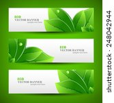 set banner ecology illustration ... | Shutterstock .eps vector #248042944