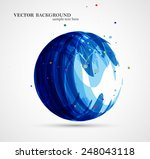 abstract circle illustration ... | Shutterstock .eps vector #248043118