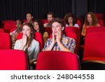 surprised young friends... | Shutterstock . vector #248044558