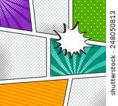 comic book template with speech ... | Shutterstock .eps vector #248050813