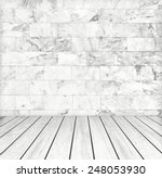 backdrop white marble wall and...   Shutterstock . vector #248053930