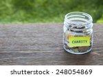 World Coins In Money Glass Jar...