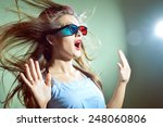 picture of surprised young... | Shutterstock . vector #248060806
