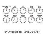 world clocks | Shutterstock .eps vector #248064754
