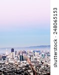 san francisco cityscape with... | Shutterstock . vector #248065153
