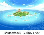 bird eye sky view neverland... | Shutterstock .eps vector #248071720