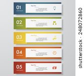 design clean number banners... | Shutterstock .eps vector #248072860