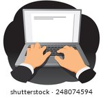 Businessman Hands Are Typing O...