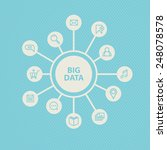 a vector graphic of big data... | Shutterstock .eps vector #248078578