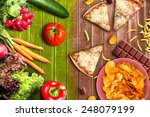 fit or fat | Shutterstock . vector #248079199