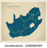 Modern Map   South Africa With...
