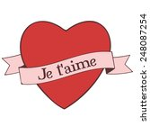 je t'aime  i love you  | Shutterstock .eps vector #248087254