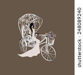 elegance retro bride on a white ...   Shutterstock .eps vector #248089240