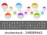 timeline template in sticker... | Shutterstock .eps vector #248089663